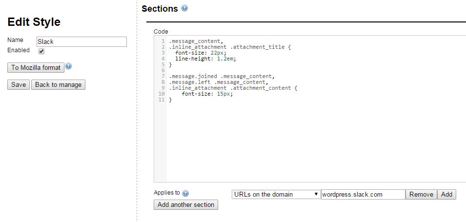Stylish editor interface.