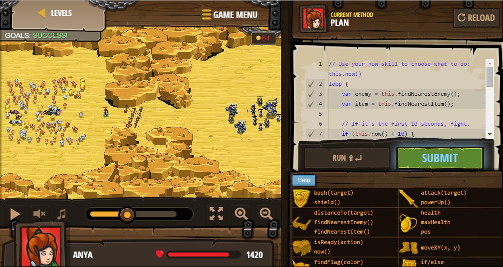 CodeCombat gameplay.