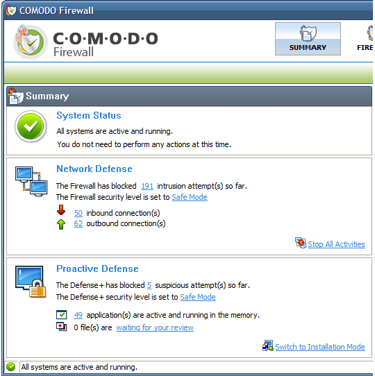 comodo_interface