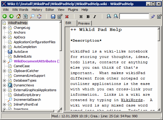 wikidpad_interface