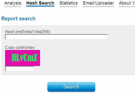 Online hash checker / Thumbprint lsd