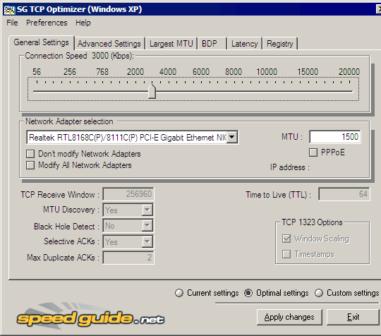 tcpoptimizer_interface