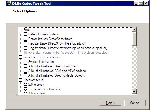 codec tool: