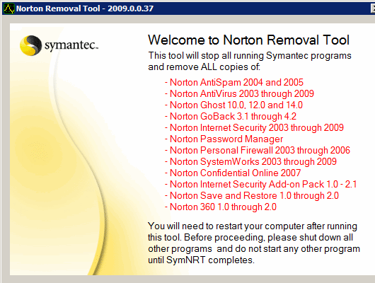 Norton Removal Tool 2011 0.5.15 full